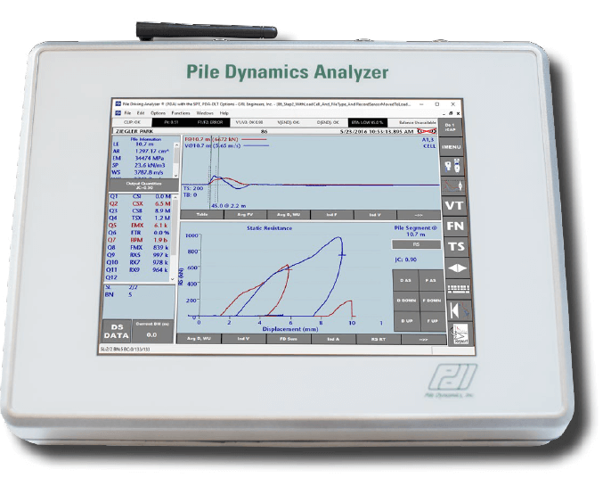 PDI - Pile Dynamics Analyzer Dynamic Load Tester (PDA-DLT)