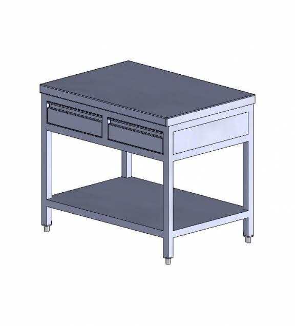 Testing - Stainless-steel work table width 1000 mm